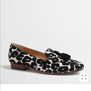 J. Crew Factory // Leopard Stacked Heel Loafers
